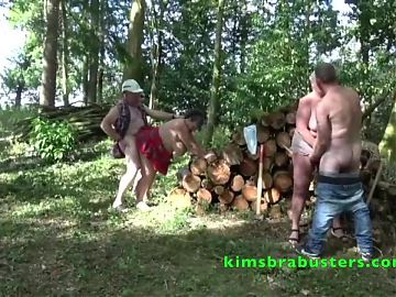 Kim and Joolz fucked by two lumberjacks