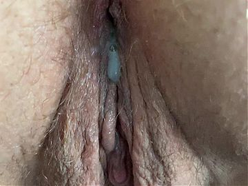 Cum dripping out of me
